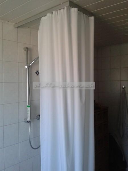 Duschvorhang 4,0m x 2,40m BxH mit Oesen