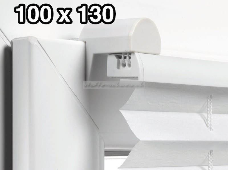 EASYFIX Plissee mit 2 Bedienschienen 100 x 130