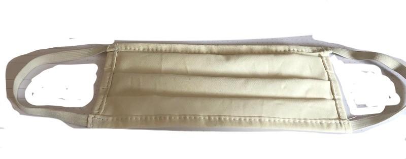 1a Mundschutz Hygiene Maske 100% Baumwolle in schwarz mit Gummi 10er Pack