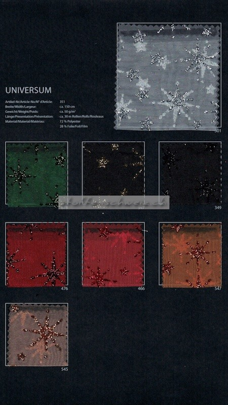 Musterkarte Farbkarte Universum