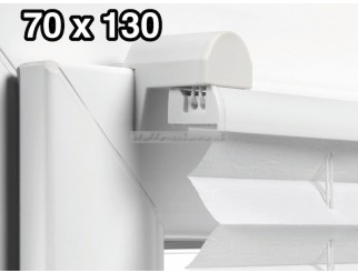 EASYFIX Plissee mit 2 Bedienschienen 70 x 130