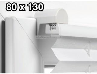 EASYFIX Plissee mit 2 Bedienschienen 80 x 130