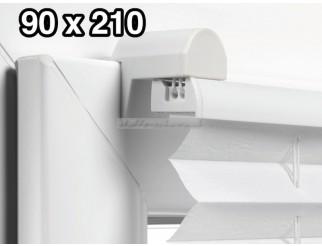 EASYFIX Plissee mit 2 Bedienschienen 90 x 210