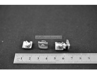 4 Feststeller Metall für Gardinenstangen