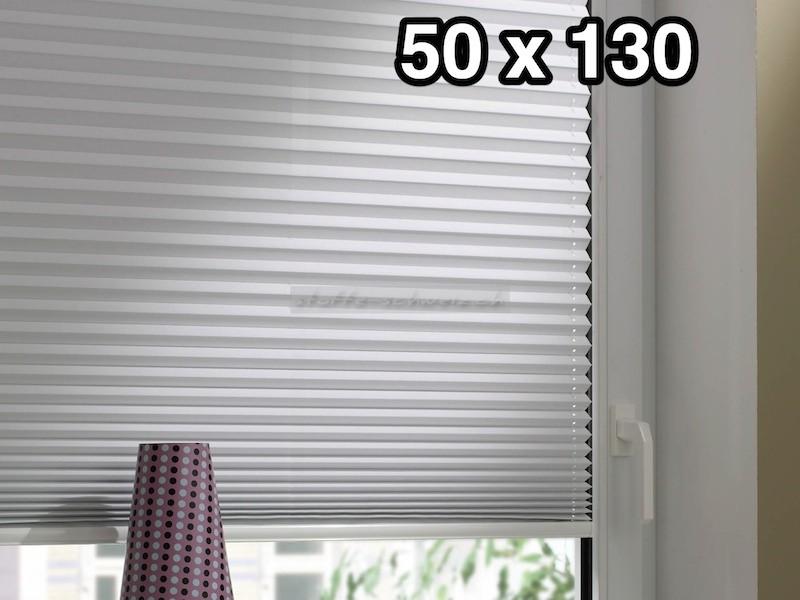 easyfix thermo plissee mit 2 bedienschienen 50 x 130. Black Bedroom Furniture Sets. Home Design Ideas